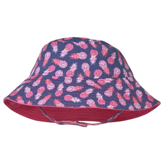 Hatley Party Pineapples Reversible Sun Hat Pink