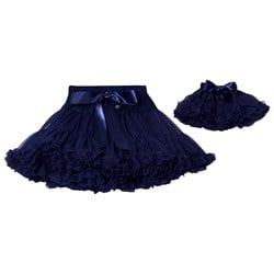 DOLLY by Le Petit Tom Snow Queen Pettiskirt Navy