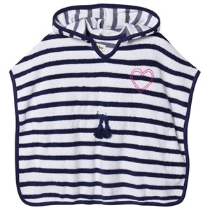 Image of Hatley Nautical Stripe Terry Coverup Blue 6 years (1538965)