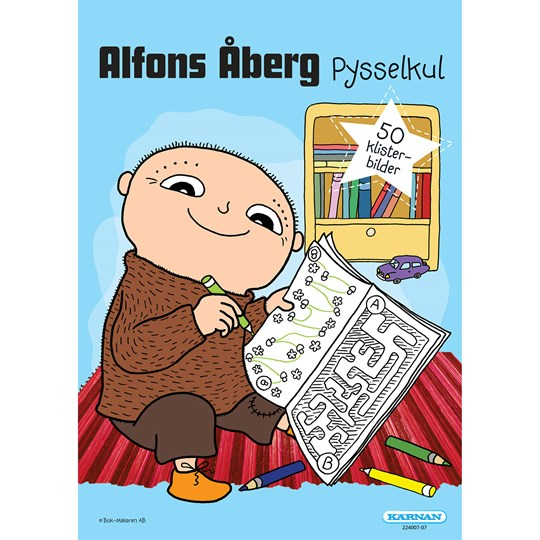 Egmont Kärnan Alfons Åberg Activity Book White