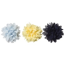 Creamie 3-Pack Flower Pin/Hair Clips Popcorn
