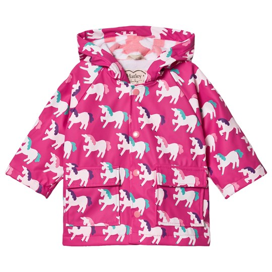 Hatley Mystical Unicorns Color Changing Raincoat Pink Pink