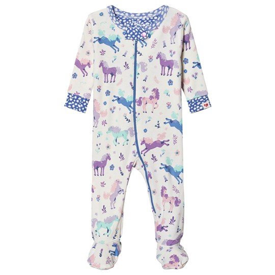 Hatley Playful Ponies Organic Cotton Footed Heldragt Cream Cream