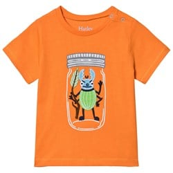 Hatley Beetle Buddy Baby Graphic T-shirt Orange