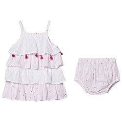 Hatley Scattered Hearts Baby Kjole Pink