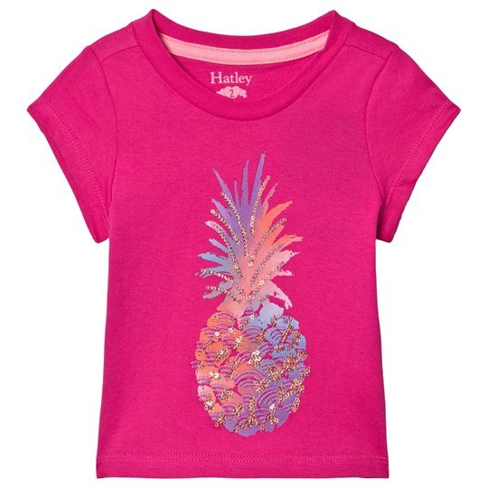Hatley Glimmer Pineapple Graphic T-shirt Pink Pink