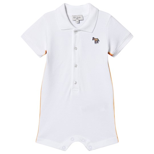 Paul Smith Junior Pique Romper with Socks in Gift Box White 01