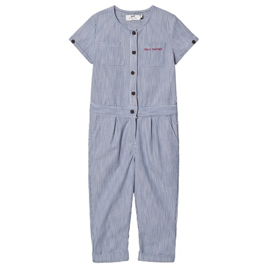 Cyrillus Stripe Button Up Flo Jumpsuit Blue Rayé Bleu Blanc