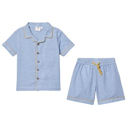 Cyrillus Gracien Short Pajamas Set Blue