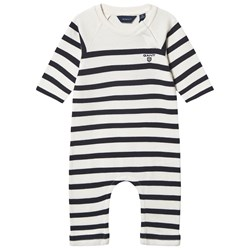 GANT avy White and Stripe Knitted One–Piece