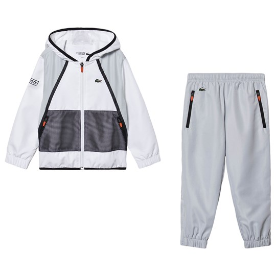 Lacoste Branded Taffeta Tennis Set Tracksuit White YEY