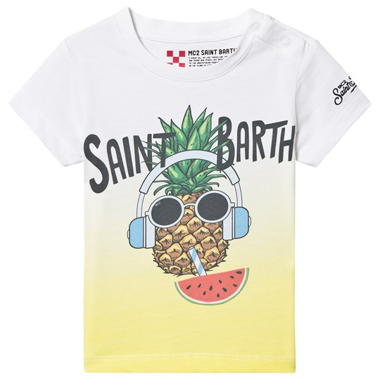 MC2 Saint Barth Pineapple Shades T-Shirt White PINEAPPLE SHADES 0191