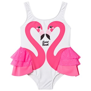 Image of MC2 Saint Barth Flamingo Love Badedragt Hvid 1 year (1578484)