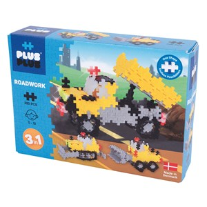 Image of Plus-Plus 220-Piece Plus-Plus® 3-in-1 Basic Road Work 5 - 12 years (1586478)