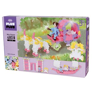 Image of Plus-Plus 480-Piece Plus-Plus® 3-in-1 Pastel Princess 5 - 12 years (1586479)