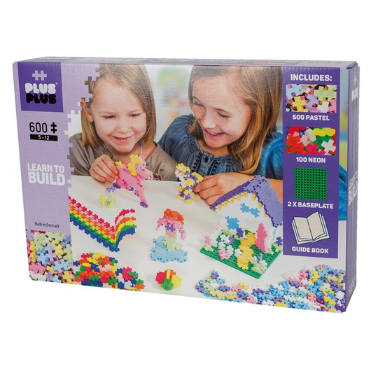 Plus-Plus 600-Piece Plus-Plus® Pastel Learn To Build Purple
