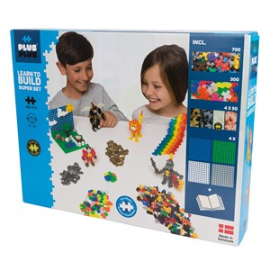 Image of Plus-Plus 1200-Piece Plus-Plus® Basic Learn To Build Super Sæt 5 - 12 years (1586482)