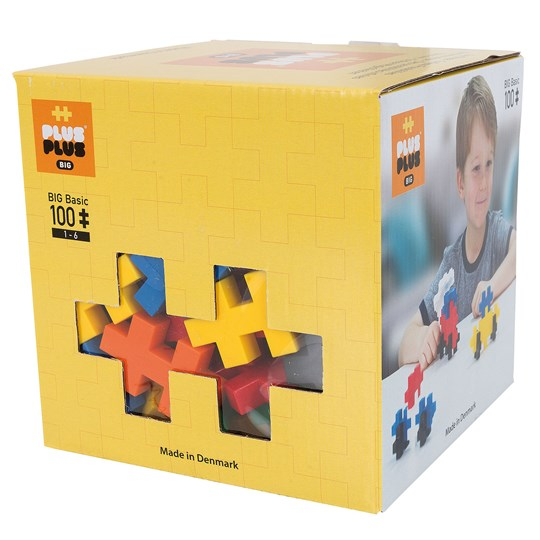 Plus-Plus 100-Piece Plus-Plus® BIG Basic Mix Yellow