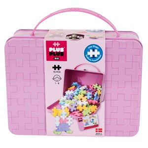Image of Plus-Plus 70-Piece Plus-Plus® BIG Pastel Metal Kuffert 12 months - 6 years (1586495)