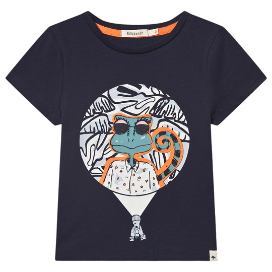Billybandit Lizard Glow In The Dark Print T-Shirt Navy 85T
