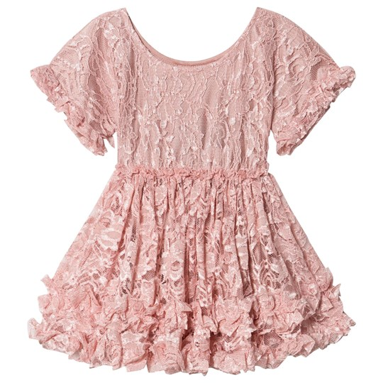 DOLLY by Le Petit Tom Lacy Frilly Dress Dress Pink Pink