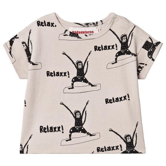 nadadelazos Yoga Monkeys T-shirt Warm Grey Warm grey
