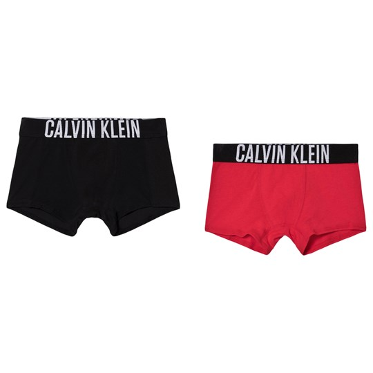 Calvin Klein 2-Pack Branded Boxers Red/Black 0MQ