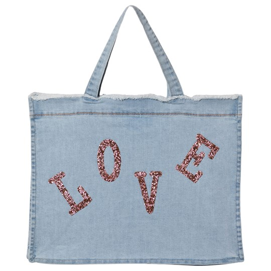 Billieblush Denim Love Beaded Bag Blue Z27
