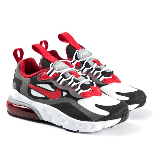 NIKE Air Max 270 React Kids Sneakers Iron Grey/University Red 011