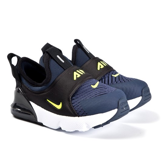 NIKE Air Max 270 Extreme Infants Sneakers Midnight Navy/Lemon Venom 400