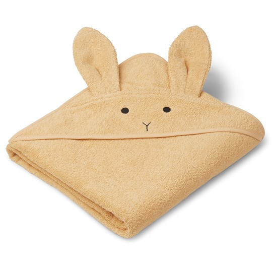 Liewood Augusta Hooded Towel Rabbit/Smoothie Yellow Smoothie Yellow