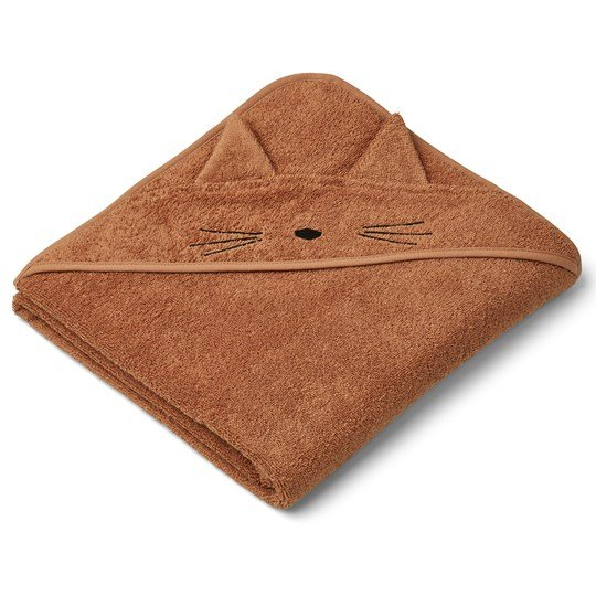 Liewood Augusta Hooded Towel Cat/Terracotta Terracotta