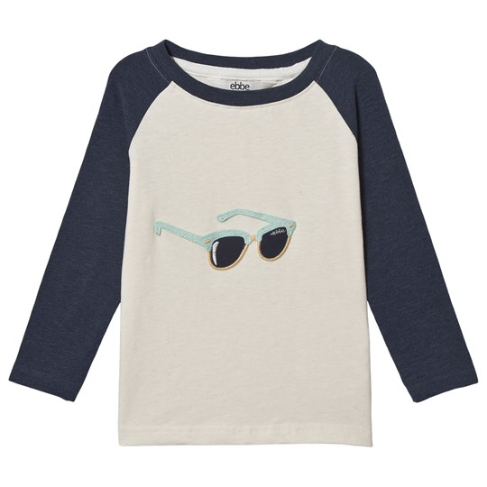 ebbe Kids George Long-sleeved Tee Off-white Ebbe Navy/Off White