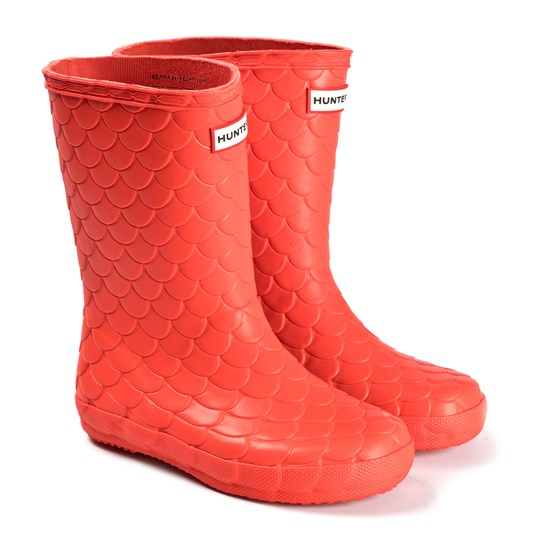 Hunter First Classic Rain Boots Red Sea Dragon Lava Red