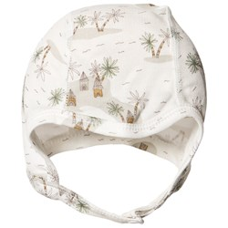 Joha Tropical Baby Hat Off White