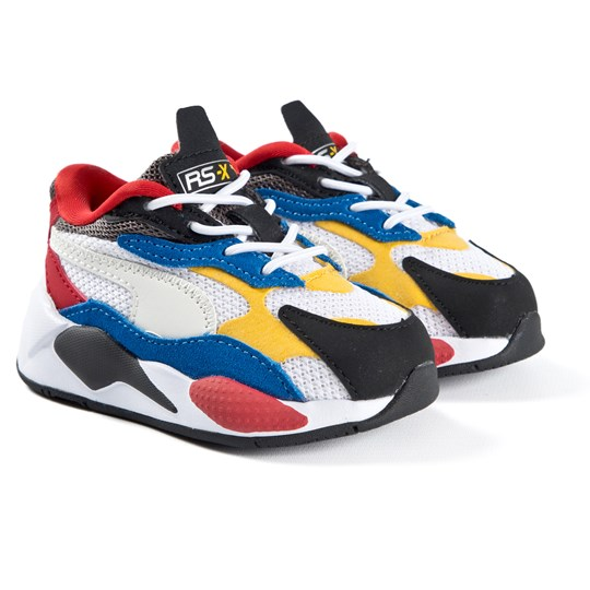 Puma White & Red RS-X Puzzle Infants Trainers 04