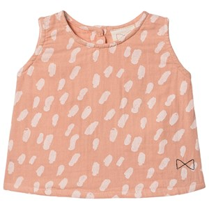 Image of Mini Sibling Paint A-Line Top Peach/Vanilla 12-18 mdr (1535898)