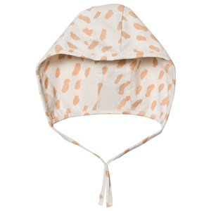 Image of Mini Sibling Paint Baby Hat Vanilla/Salmon One Size (1536003)