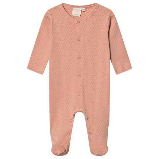 Mini Sibling Patterned Footed Baby Body Salmon Patterned Salmon