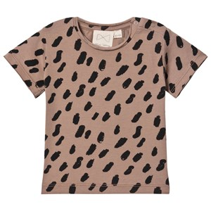 Image of Mini Sibling Paint T-shirt Cacao/Sort 18-24 mdr (1535823)