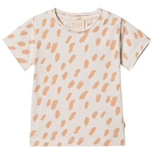 Image of Mini Sibling Paint T-shirt Vanilla/Salmon 0-3 mdr (1535831)