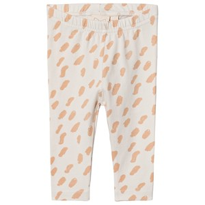Image of Mini Sibling Paint Leggings Vanilla/Salmon 3-6 mdr (1535850)