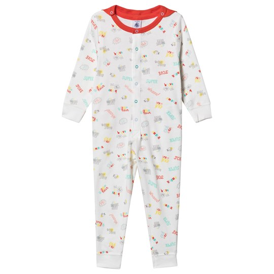 Petit Bateau 2-in-1 Superhero One-Piece Hvit/Rød MARSHMALLOW/MULTICO
