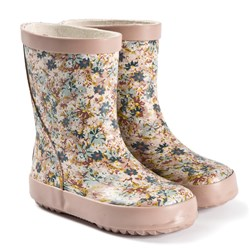 Wheat Alpha Rubber Boots Multi Flowers