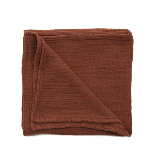 garbo&friends Muslin Swaddle Blanket Cinnamon Cinnamon