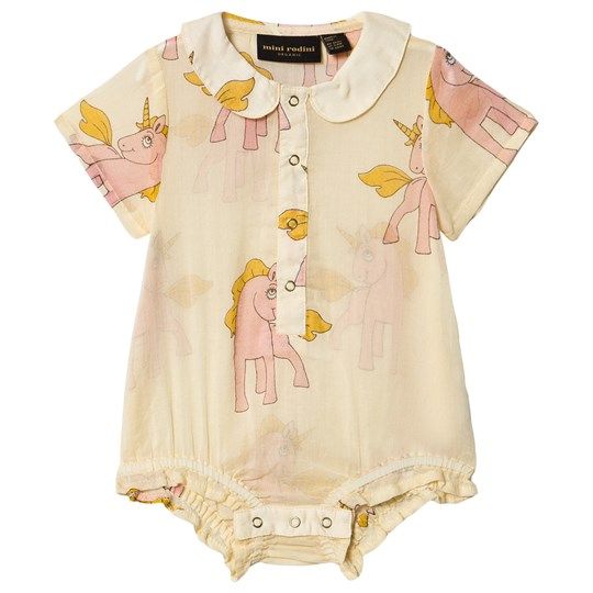 Mini Rodini Unicorns Baby Body Yellow Yellow