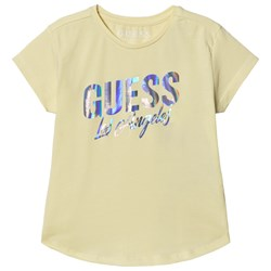 Guess Lemon and Silver Holographic Top