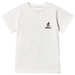 Image of Gramicci Front and Back Running Man Logo T-Shirt Hvid 130cm (9-10 years) (1589684)