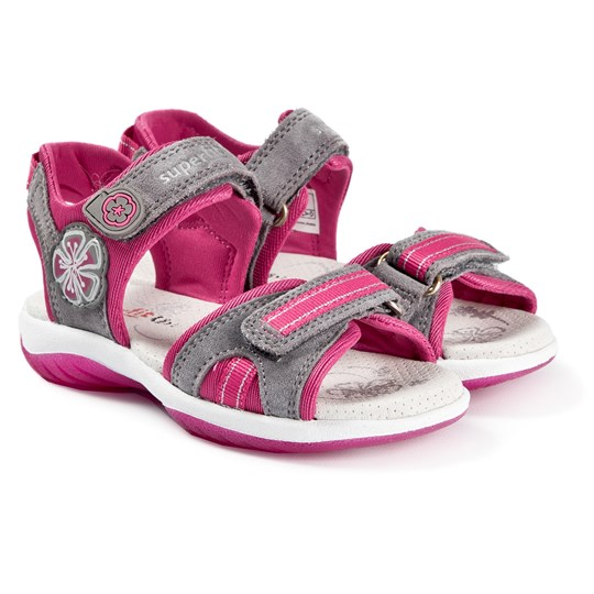 Superfit Sunny Sandals Grey Lightgrey/Pink