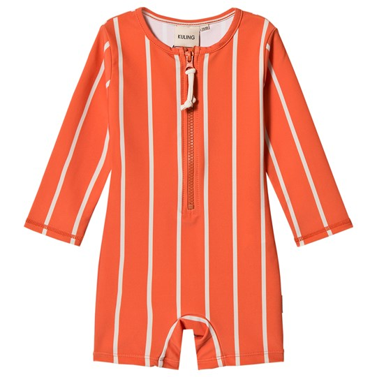 Kuling UV Suit Paros Striped Bright Orange